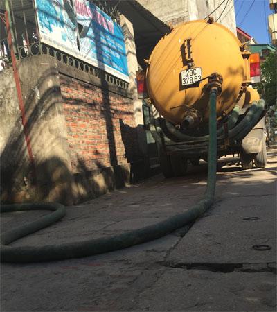Hút bể phốt thông tắc cống tại Vĩnh Phúc